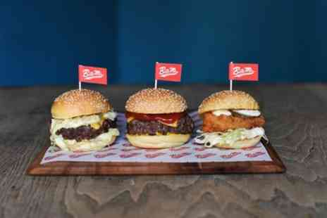 Bite Me Burgers - Duo or Trio Burger with Chips and Milkshake for Up to Four - Save 53%