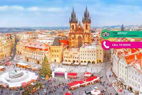 Book It Now Holidays - Two night luxury Prague break with breakfast and return flights - Save 40%