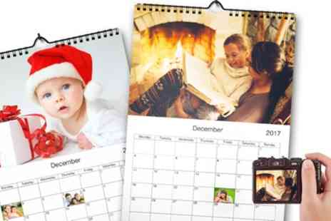 Printerpix - Up to Five Personalised A4 Photo Calendars - Save 65%