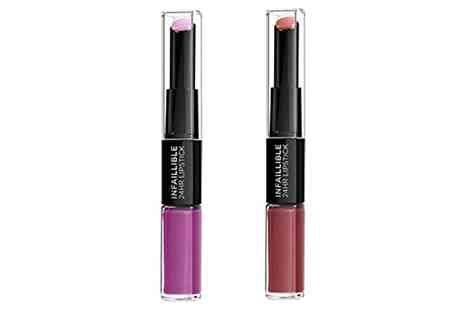 Groupon Goods Global GmbH - Two L Oreal Infallible Duo Lipsticks - Save 0%