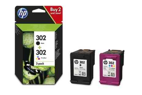 Raion - Hewlett Packard 302 Black and Tri Colour Ink Cartridges Combo With Free Delivery - Save 0%