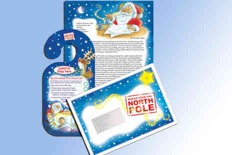 Santa.co.uk - Personalised Santa letter or personalised Santa letter with personalised Santa message DVD - Save 50%
