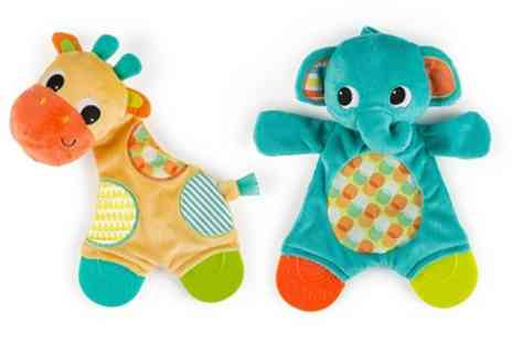 Groupon Goods Global GmbH - One, Two or Three Bright Starts Snuggle and Teethe Cuddly Toy Sets - Save 0%