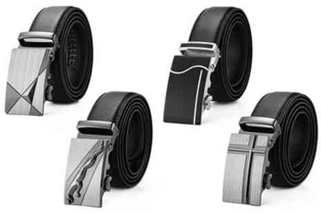 Groupon Goods Global GmbH - Mens Genuine Leather Belt - Save 0%