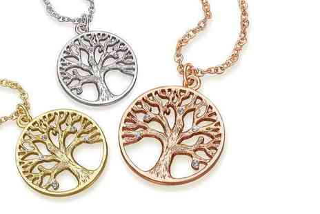 Lily Spencer London - Tree of life pendant necklace choose from three colours - Save 90%