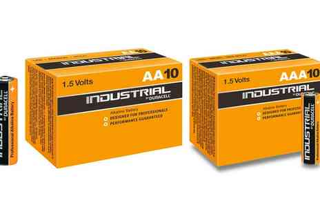 Groupon Goods Global GmbH - 10, 20 or 40 Duracell Industrial R03 AAA or R06 AA Alkaline Batteries - Save 0%
