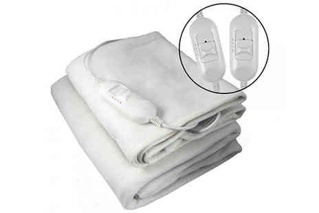 Fusion - Electric Heated Under Blanket Choose 3 Sizes - Save 63%