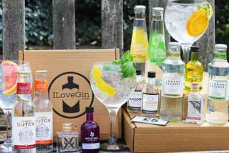 I Love Gin - Craft gin box with mixers including P&P - Save 50%