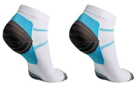 Groupon Goods Global GmbH - One, Two, Three or Four Pairs of Ankle Compression Socks - Save 73%