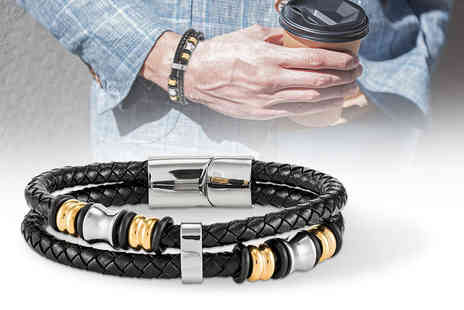 GameChanger Associates - A mens genuine leather bracelet - Save 78%