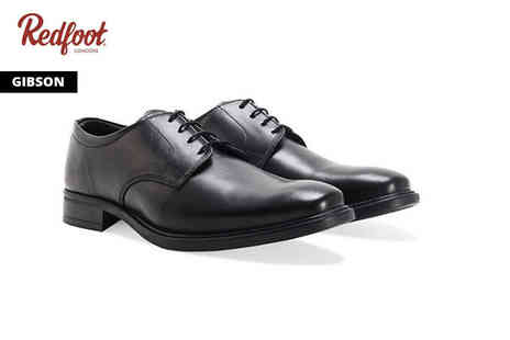 Redfoot - Pair of smart leather shoes choose from two designs - Save 83%