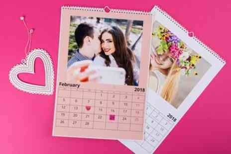 Colorland - Up to Five Personalised A3 Photo Calendars - Save 83%