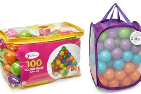 Groupon Goods Global GmbH - Bag of 100 Colourful Plastic Soft Air Filled Play Balls - Save 0%
