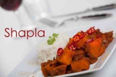 Shapla - Two Course Indian Meal For Two With Sides and Wine - Save 54%