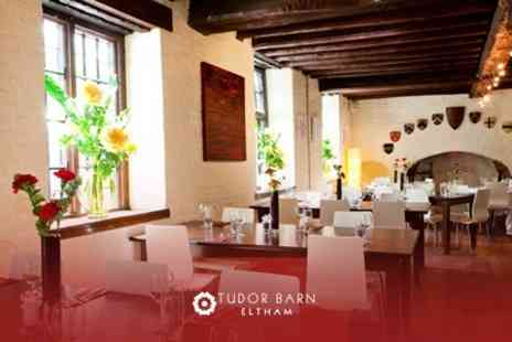Tudor Barn Eltham - Two Courses of European Fare For Two With a Glass of Wine Each - Save 63%