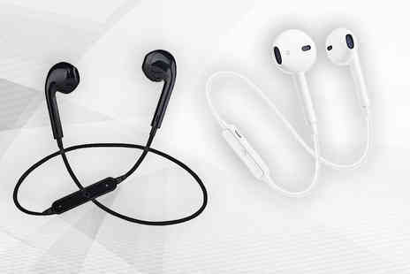 Magic Trends - Pair of Apple compatible wireless Bluetooth headphones get black or white - Save 78%