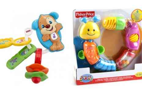 Groupon Goods Global GmbH - One or Two Fisher Price Laugh and Learn Toys Go Puppy Keys, Snap Lock Caterpillar or Both - Save 0%