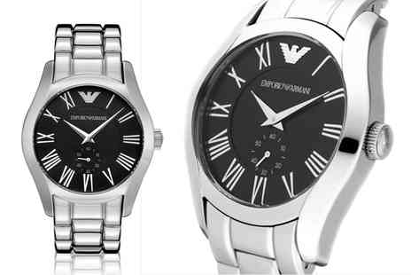 Mimo Deals - Mens stainless steel Emporio Armani watch - Save 64%