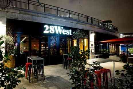 28West - Three Course Meal with Cocktail for Up to Six - Save 56%