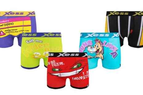 Groupon Goods Global GmbH - Three Pack of Mens Novelty Boxers - Save 0%