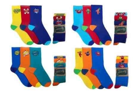 Groupon Goods Global GmbH - Three or Six Pack of Mens Printed Socks - Save 0%