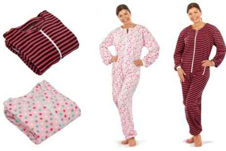 Groupon Goods Global GmbH - Womens Patterned Fleece Onesie - Save 68%