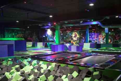 Flip Out - One, Two or Three Hour Trampoline Park Entry for Up to Four - Save 37%