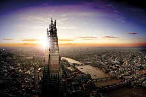 The View from The Shard - Entry to The View From The Shard Levels 69 and 72 for one person or include a glass of Champagne - Save 35%