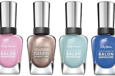 Groupon Goods Global GmbH - Four Pack of Sally Hansen Complete Salon Manicure Nail Polish - Save 0%