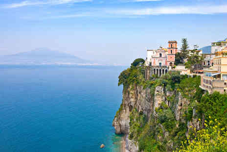 Crystal Travel - Three, five or seven night 4 Star Sorrento seaside holiday with breakfast and flights - Save 51%