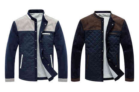 Blu Apparel - Mens quilted jacket choose from two colours - Save 0%