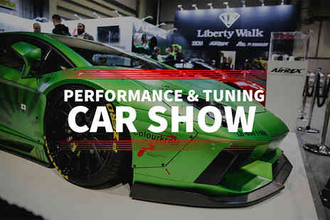 Performance Car Show - All day entry to the Performance and Tuning Car Show or include entry to the Live Action Arena - Save 24%