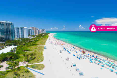 Bargain Late Holidays - Three, five or seven night Miami Beach holiday with return flights - Save 45%