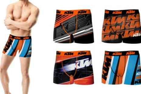 Groupon Goods Global GmbH - Four or Eight Pack of KTM Mens Boxer Shorts - Save 58%