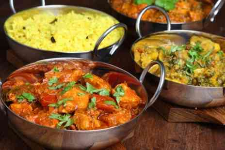 Raj Douth - Two Course Indian Meal with Rice or Naan for Up to Six - Save 56%