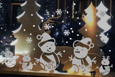Easy Plants - Set of snowman Christmas window stickers - Save 83%