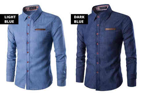 Bluebell Retail - Slim fit denim shirt choose from two colours - Save 0%