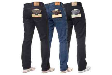 Groupon Goods Global GmbH - Kruze Jeans Mens Regular Fit Jeans - Save 46%