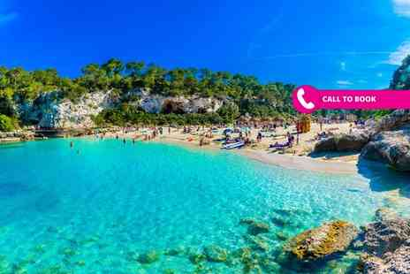 Book It Now Holidays - Three or five night half board Mallorca beach break with sea view room, spa treatment and flights - Save 53%