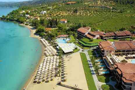 Anthemus Sea Beach Hotel & Spa - Five Star Lagoon Pool Heaven on Elia Bay For Two - Save 43%