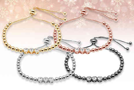 Lily Spencer London - Crystal beaded friendship bracelet set choose from four colours - Save 76%