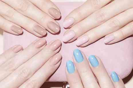 Infinity Hair & Beauty Salon - File and Gel Polish on Hands, Feet or Both - Save 43%