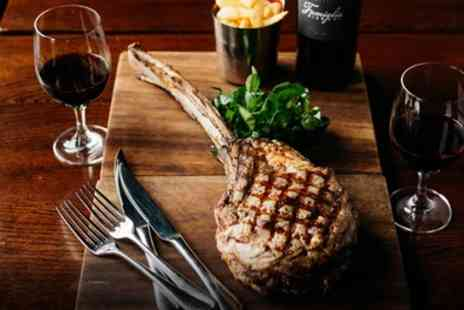 Enelles Glasshouse - Two Course Steak Meal with Wine for Two or Four - Save 61%