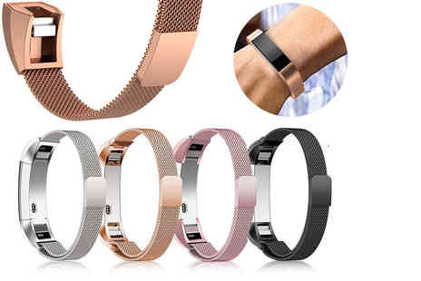 Charles Oscar - Fitbit compatible stainless steel wristband - Save 71%