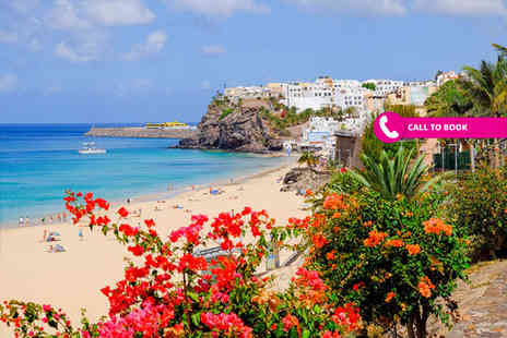 Book It Now Holidays - Three or five night 4 Star Fuerteventura break with breakfast, one free dinner and return flights - Save 58%