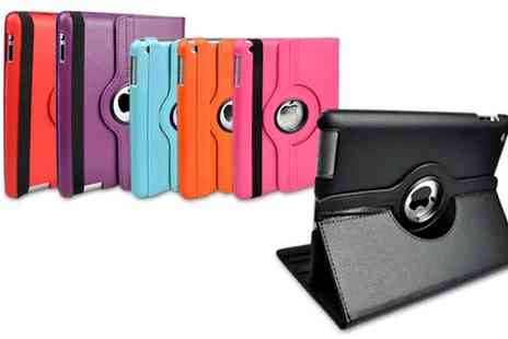 Groupon Goods Global GmbH - Rotating Case for iPad 2, 3, iPad 4, iPad Air, iPad Air 2, iPad Mini and iPad Pro 9.7 Inch with Optional Charging Cable - Save 0%