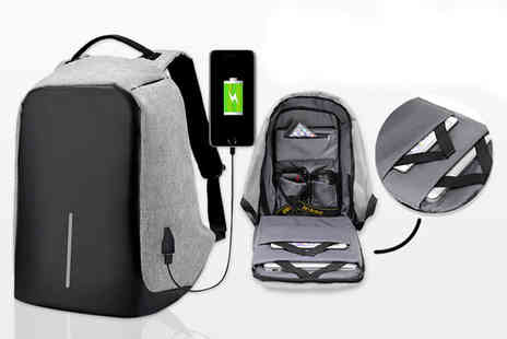 Charles Oscar - Anti theft backpack with USB charging port - Save 90%