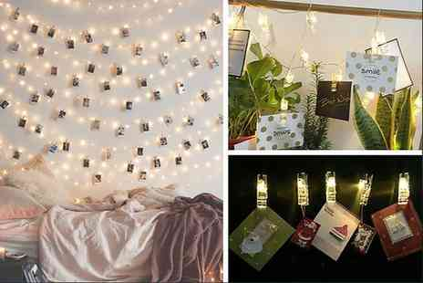 Charles Oscar - Set of 36 LED Photo Clip String Lights - Save 82%