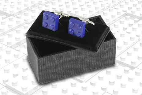 Charles Oscar - Pair of building block cufflinks - Save 77%