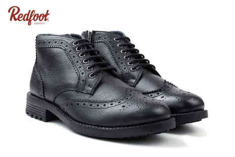 Redfoot Shoes - Pair of smart leather shoes choose from two designs - Save 79%